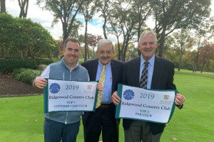 Ridgewood Country Club is the Caddie Scholarship Foundation Club of the Year