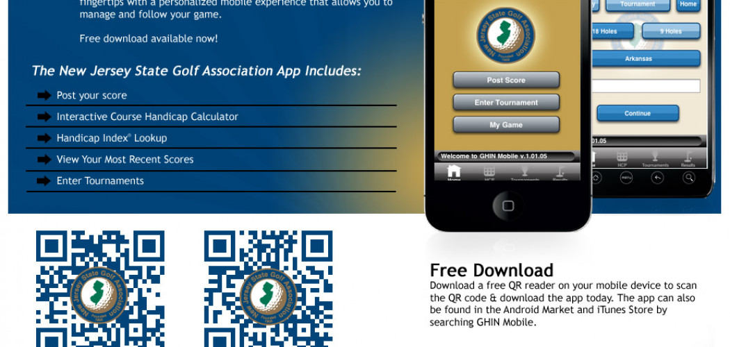 NJSGA Goes Mobile With Apps For Ghin | New Jersey State Golf