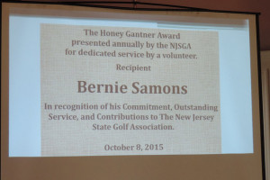 Bernie Samons, NJSGA Course Rater, Board Member And Award Winner, Passes Away