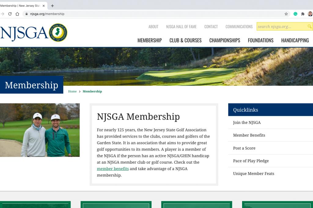 NJSGA.org Website