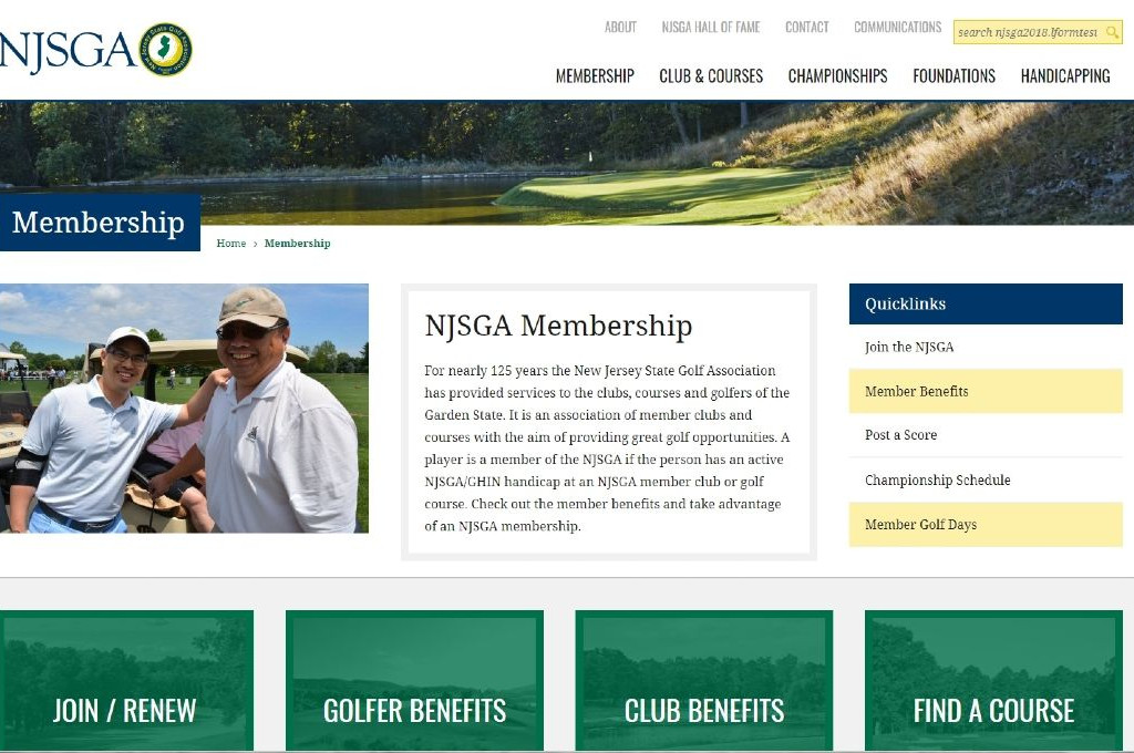 NJSGA.org Website